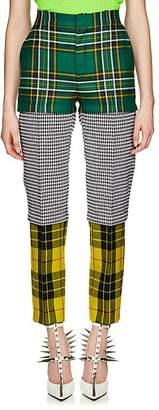 Balenciaga Women's Plaid & Houndstooth Wool Convertible Trousers