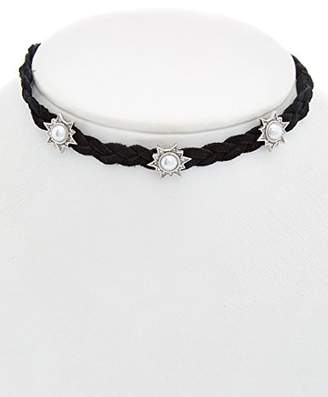 Rebecca Minkoff Rock N Roll Charms on Braided Leather Choker Necklace