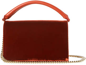 Diane von Furstenberg Deep Fig Soiree Velvet Top Handle Bag