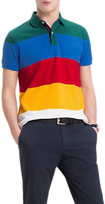 Tommy Hilfiger Short Sleeve Colour Block Polo Shirt, Multi