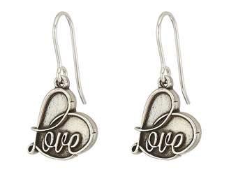 Alex and Ani Love Hook Earrings