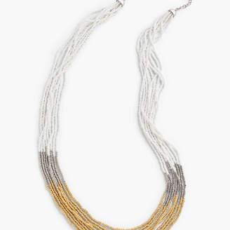 Talbots Long Multi-Strand Beaded Necklace