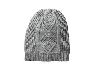 Plush Fleece-Lined Cable Knit Beanie