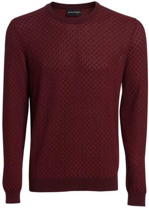 Emporio Armani Crisscross Cotton Sweater