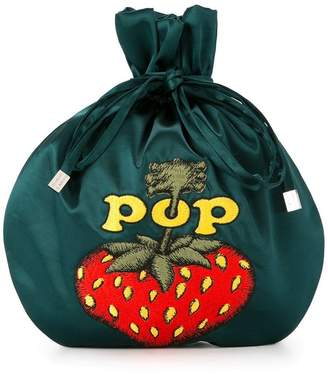 Hysteric Glamour Pop Berry drawstring clutch bag