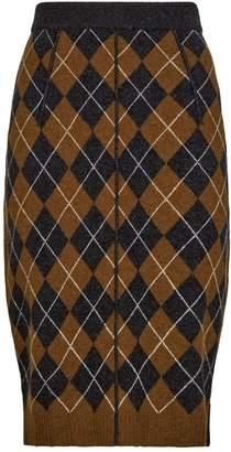 Pringle Argyle Knit Pencil Skirt