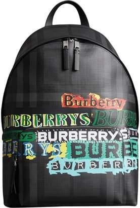 Burberry Logo Print London Check Backpack