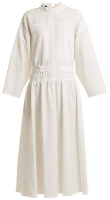 Joseph Camille Tie Waist Dress - Womens - White