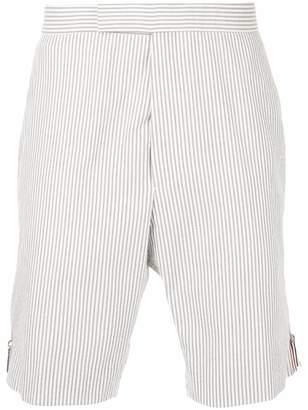 Thom Browne seersucker striped shorts