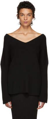 Stella McCartney Black Ribbed V-Neck Sweater
