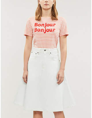 23a69aaa71 Chinti and Parker Bonjour slogan cotton-jersey T-shirt