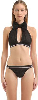 Chantal Thomass Grain De Folie Tulle Bra W/ Bow