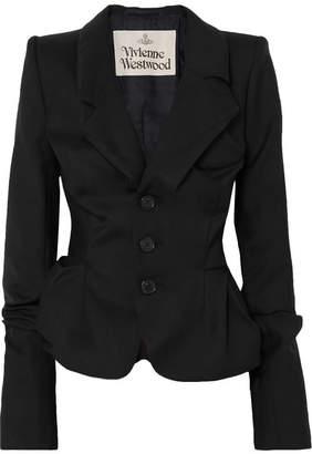 Vivienne Westwood Gathered Wool-twill Blazer - Black