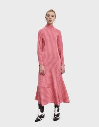 Ganni Lynch Seersucker Maxi Dress