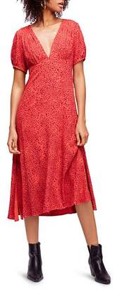 Free People Looking For Love Printed Midi Dress