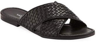 Sesto Meucci Nera Flat Woven Napa Leather Slide Sandal