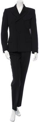 Jean Paul Gaultier Wool Skinny-Leg Pantsuit $130 thestylecure.com