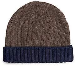 Loro Piana Men's Berretto Denver Two-Tone Cashmere Beanie
