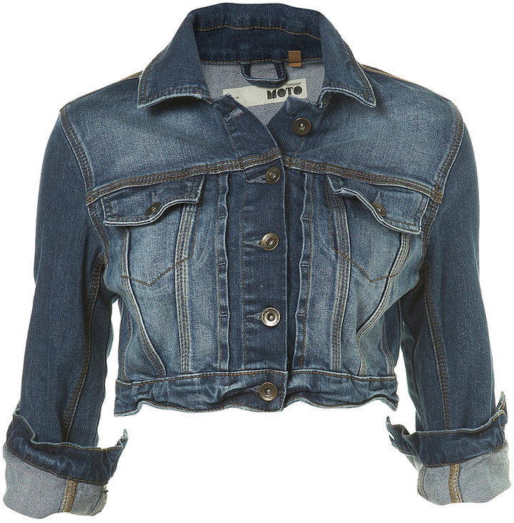 Indigo Denim Crop Jacket