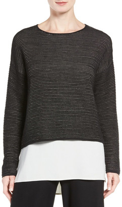 Eileen Fisher Boxy Silk Blend Blouse $268 thestylecure.com