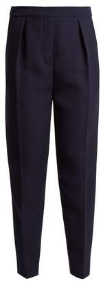 Roksanda Surikov High Rise Peg Leg Trousers - Womens - Navy