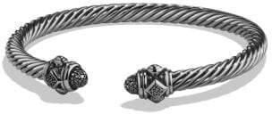 David Yurman Renaissance Bracelet With Black Diamonds In Silver, 5Mm