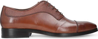 Kurt Geiger London Austin textured-leather Oxford shoes