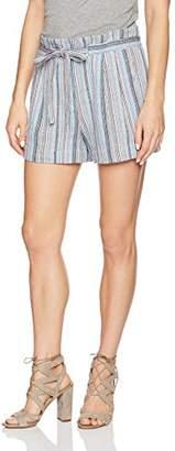 BCBGMAXAZRIA Women's Renee Belted Striped Shorts