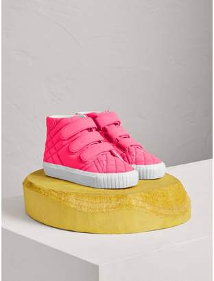 Burberry Quilted High-top Trainers