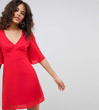Fashion Union Tall Mini Dress With Frill Sleeves