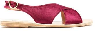 Ancient Greek Sandals Maria Velvet Sandal - Womens - Fuchsia