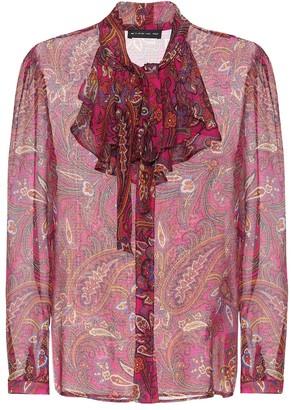 Etro Printed silk crepe top