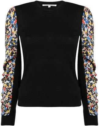 Veronica Beard floral print sleeve jumper