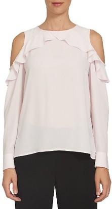 Women's Cece Ruffle Cold Shoulder Blouse $79 thestylecure.com