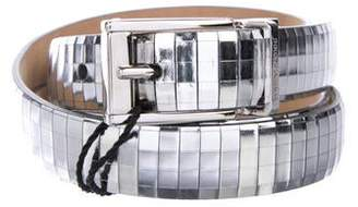 Dolce & Gabbana Metallic Patent Leather Belt