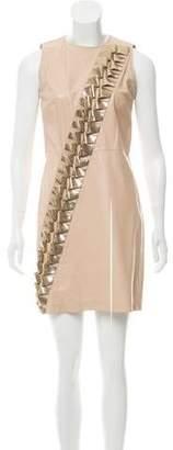 Versace Embellished Leather Dress