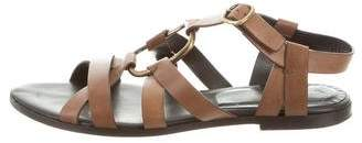 Roger Vivier Leather Ankle Strap Sandals