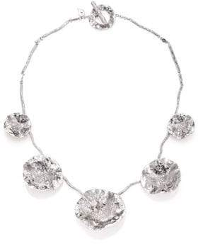 Coomi Silver Serenity Diamond& Sterling Silver Flower Necklace
