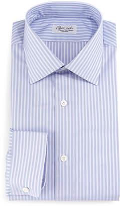 Charvet Striped Barrel-Cuff Dress Shirt, Purple
