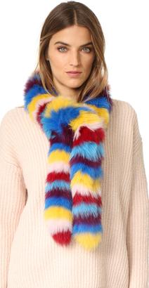 Jocelyn Multi Fox Fur Scarf $225 thestylecure.com