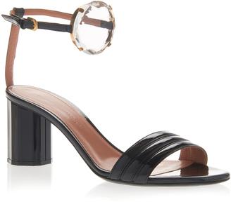Bejeweled Mid Heel Metallic Sandal