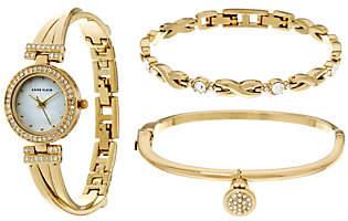 Anne Klein Crystal Bangle Watch and BraceletSet