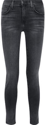 Current/Elliott - The High Waist Ankle Skinny Jeans - Gray $230 thestylecure.com