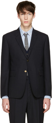 Thom Browne Navy Classic Blazer $1,790 thestylecure.com