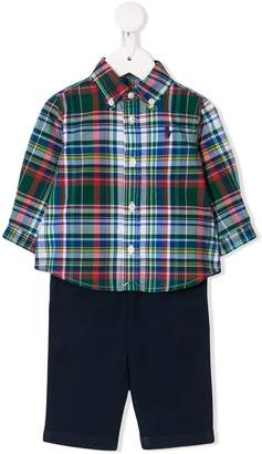 Ralph Lauren Kids tartan trouser set