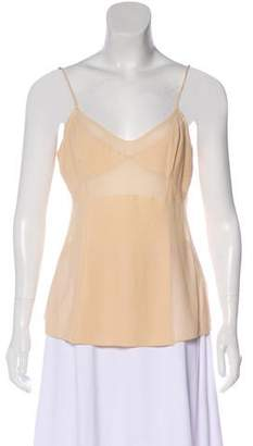 Bottega Veneta Sleeveless Sweetheart Neck Top