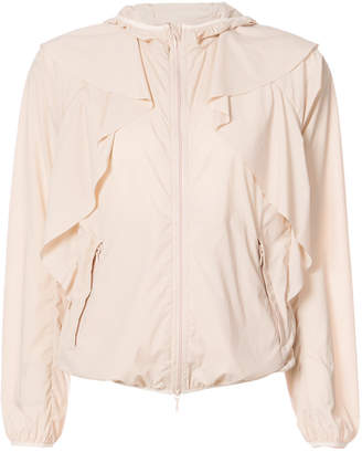 RED Valentino ruffled lightweight hooded jacket