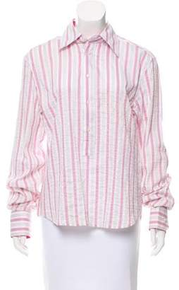 RED Valentino Striped Button-Up Top w/ Tags