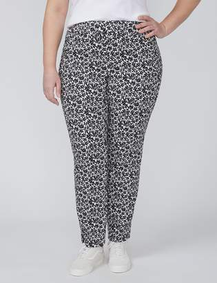 Allie Ankle Pant - Pull-On Floral Jacquard