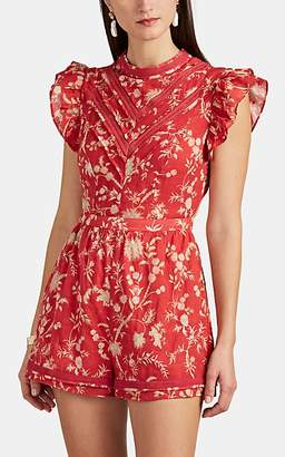 SIR the Label WOMEN'S AURELIE FLORAL COTTON ROMPER SIZE 3